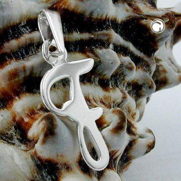 Anhänger Buchstabe F glänzend Silber 925 – Bild 2