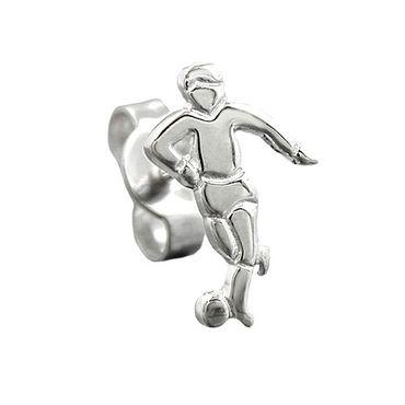 Stecker, Fußballspieler, Silber 925 – Bild 3