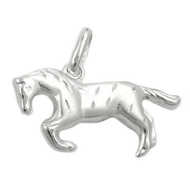 Anhänger, Pferd matt-glzd, Silber 925 – Bild 3