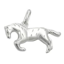 Anhänger, Pferd matt-glzd, Silber 925 – Bild 4