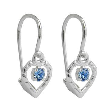 Brisur, Glasstein hellblau, Silber 925 – Bild 1