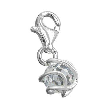 Anhänger Charm Zirkonia-weiß Silber 925 – Bild 3