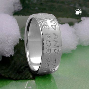 Ring, LOVE HAS NO END, Silber 925 – Bild 2