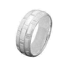 Ring, matt-glänzend, kariert, 925 – Bild 4
