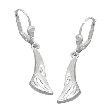 Brisur, matt-glänzend, Silber 925 – Bild 1