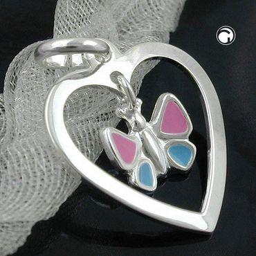 Anhänger Schmetterling/Herz, Silber 925 – Bild 2