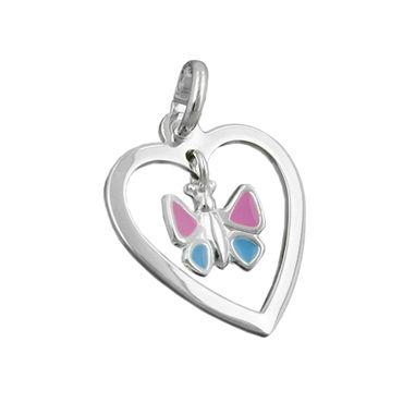 Anhänger Schmetterling/Herz, Silber 925 – Bild 1