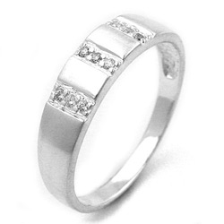 Ring, 9 kleine Zirkonia, 925 – Bild 4