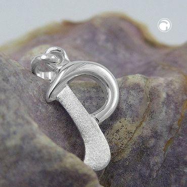 Anhänger Buchstabe P teilmattiert glänzend Silber 925 – Bild 2