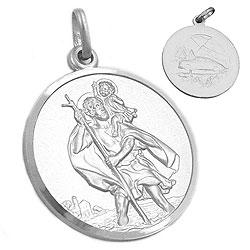 Anhänger, Medaille Christophorus, 925 – Bild 4