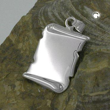 Anhänger, Dokumentrolle glzd Silber 925 – Bild 2