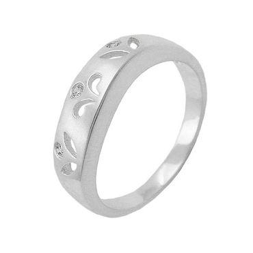 Ring, matt, mit 3x CZ, 925 – Bild 3