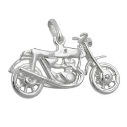 Anhänger, altes Motorrad, Silber 925 – Bild 4