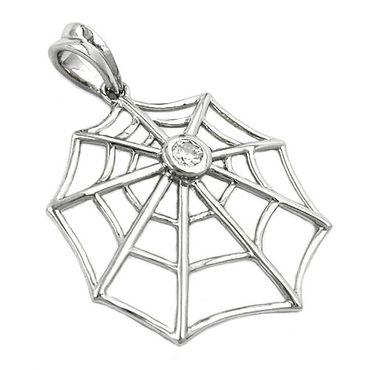 Anhänger Spinnennetz Zirkonia Silber 925 – Bild 3