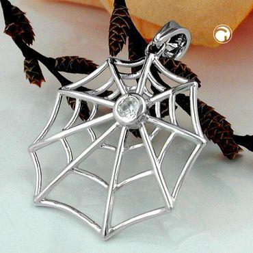 Anhänger Spinnennetz Zirkonia Silber 925 – Bild 2