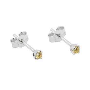 Stecker, Mini-Viereck gelbton Silber 925 – Bild 3