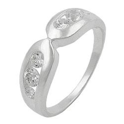 Ring, 6mm mit 6x Zirkonia, Silber 925 – Bild 4