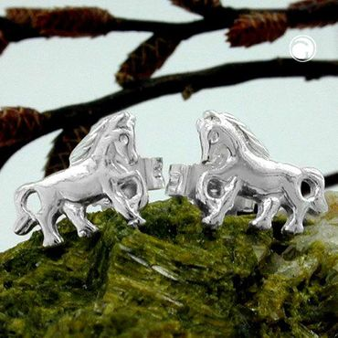 Stecker, Pferd rechts-links, Silber 925 – Bild 2