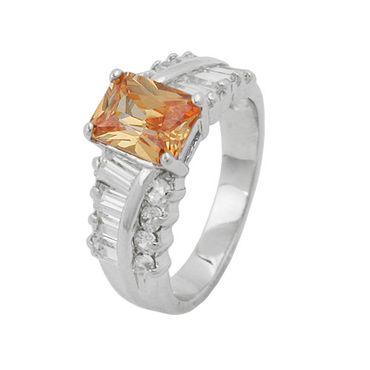Ring Zirkonia topas-weiß Silber 925 – Bild 3