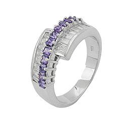 Ring, Zirkonia amethyst-weiß, Silber 925 – Bild 4