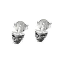 Stecker, kleine Maske, Silber 925 – Bild 4