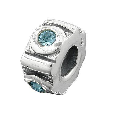 Anhänger, Perle-bead, aqua, Silber 925 – Bild 3