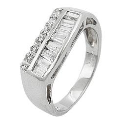 Ring, Zirkonias, rhodiniert Silber 925 – Bild 4