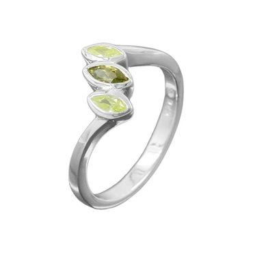 Ring Zirkonia olivine-peridot Silber 925 – Bild 3