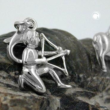 Anhänger Charm 15x12mm Schütze glänzend rhodiniert Silber 925 – Bild 2