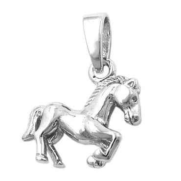 Anhänger, Pferd, rhodiniert Silber 925 – Bild 3