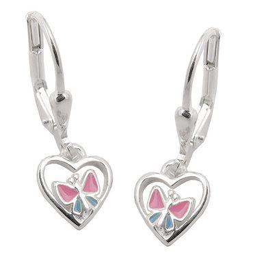 Brisur Schmetterling im Herz, Silber 925 – Bild 3