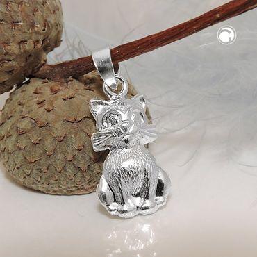 Anhänger, Katze, Silber 925 – Bild 2