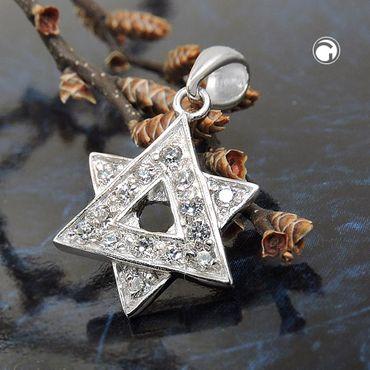 Anhänger David-Stern Zirkonia Silber 925 – Bild 2