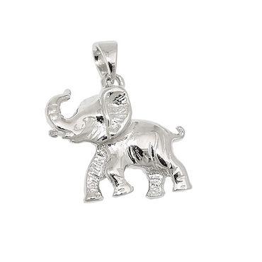 Anhänger, Elefant glänzend, Silber 925 – Bild 3