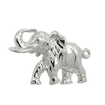 Anhänger, Elefant massiv, Silber 925 – Bild 3
