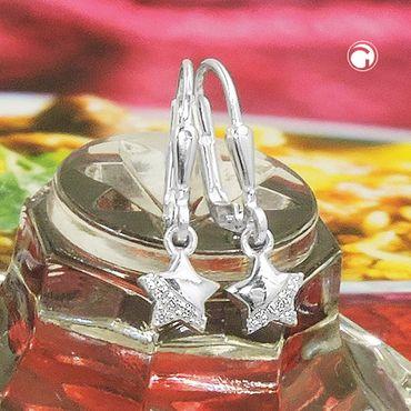 Brisur Stern glänzend mit Zirkonia Silber 925 – Bild 2