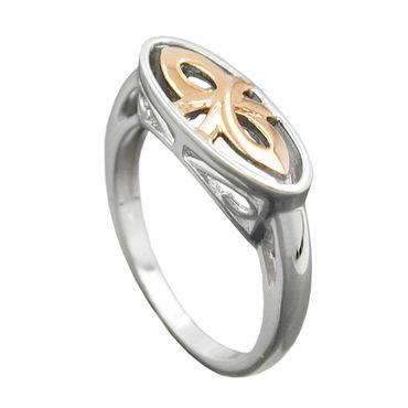 Ring, bicolor, rhodiniert, Silber 925 – Bild 1