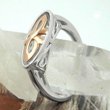 Ring, bicolor, rhodiniert, Silber 925 – Bild 2