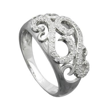 Ring, mit vielen Zirkonias, Silber 925 – Bild 1