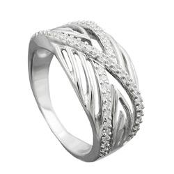 Ring, mit vielen Zirkonias, Silber 925 – Bild 4