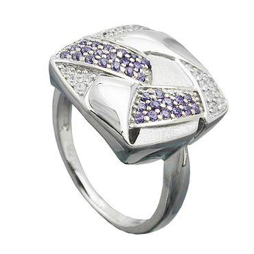 Ring, Viereck, mit Zirkonias, Silber 925 – Bild 3