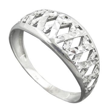 Ring diamantiert rhodiniert, Silber 925 – Bild 1