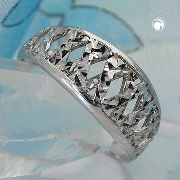 Ring diamantiert rhodiniert, Silber 925 – Bild 2