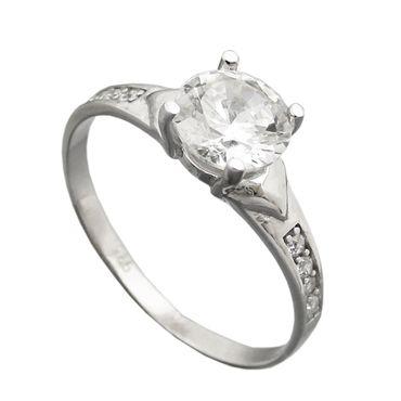 Ring, Zirkonia 6mm, Silber 925 – Bild 1