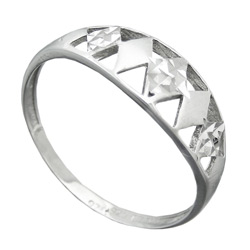 Ring, diamantiert rhodiniert, Silber 925 – Bild 4
