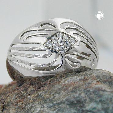 Ring, mit Zirkonias, Silber 925 – Bild 2