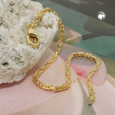 Armband Königskette 2x2mm 19cm 14Kt GOLD – Bild 2