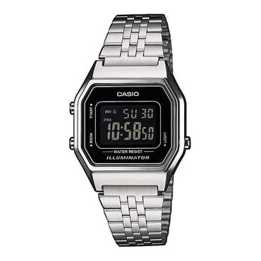 Casio Retro Collection LA680WA-1BDF Damenuhr Chronograph
