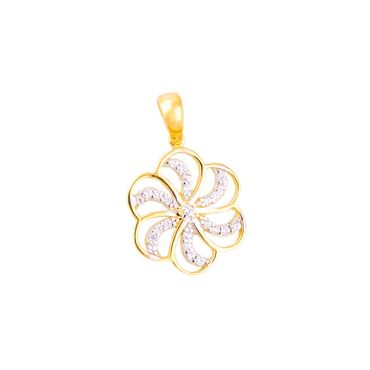 ASS 333 Gold Anhänger Damen Kettenanhänger Blume mit Zirkonia klein – Bild 1