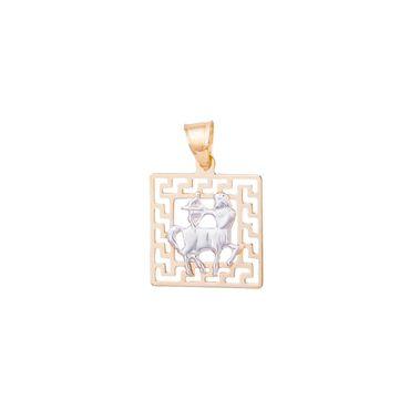 ASS 585 14 Karat Gold Damen Herren Anhänger Sternzeichen Schütze bicolor  – Bild 1